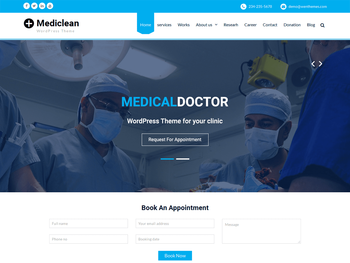 25+ Free Medical WordPress Themes 2019 9