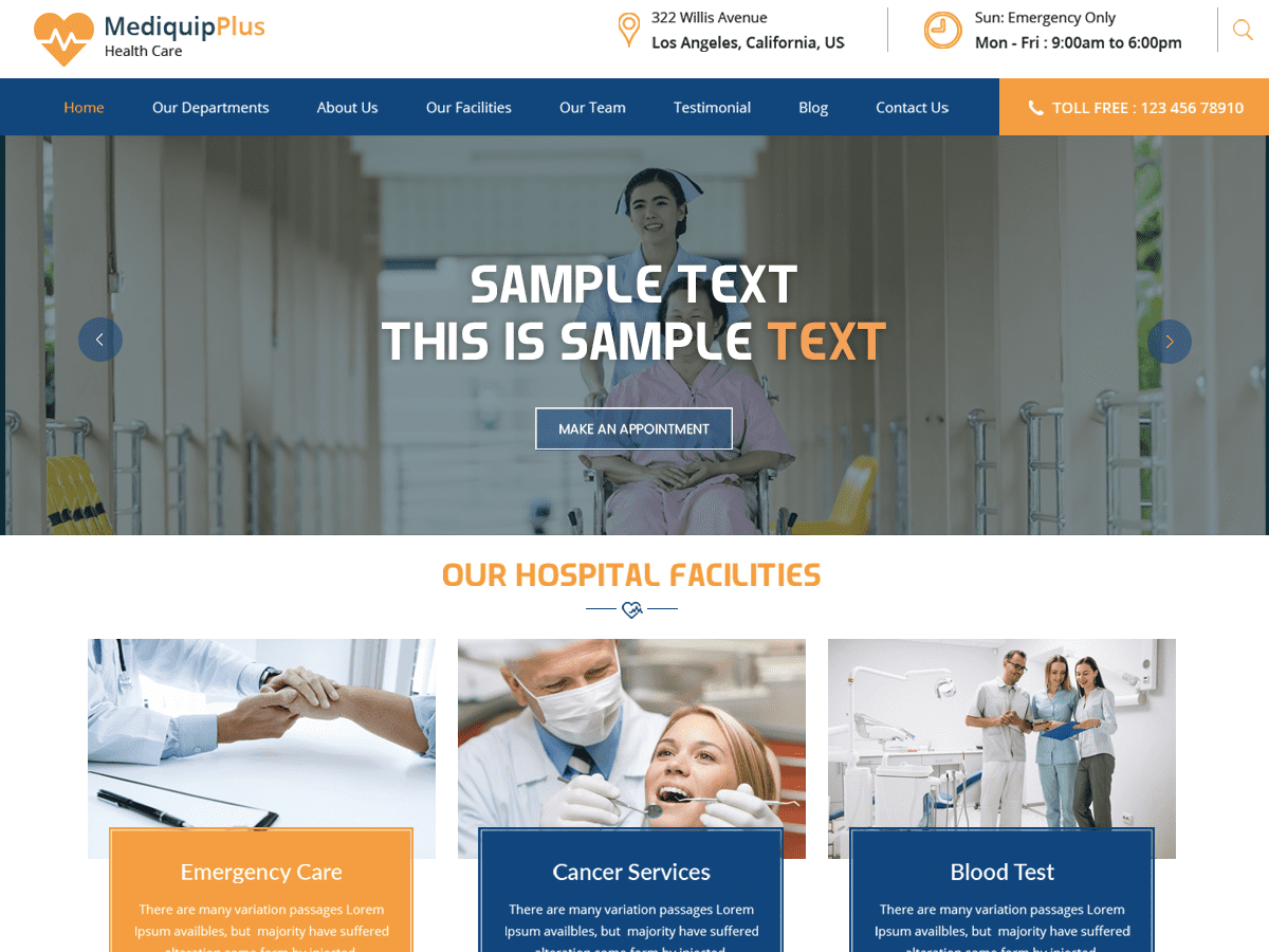 25+ Free Medical WordPress Themes 2019 14