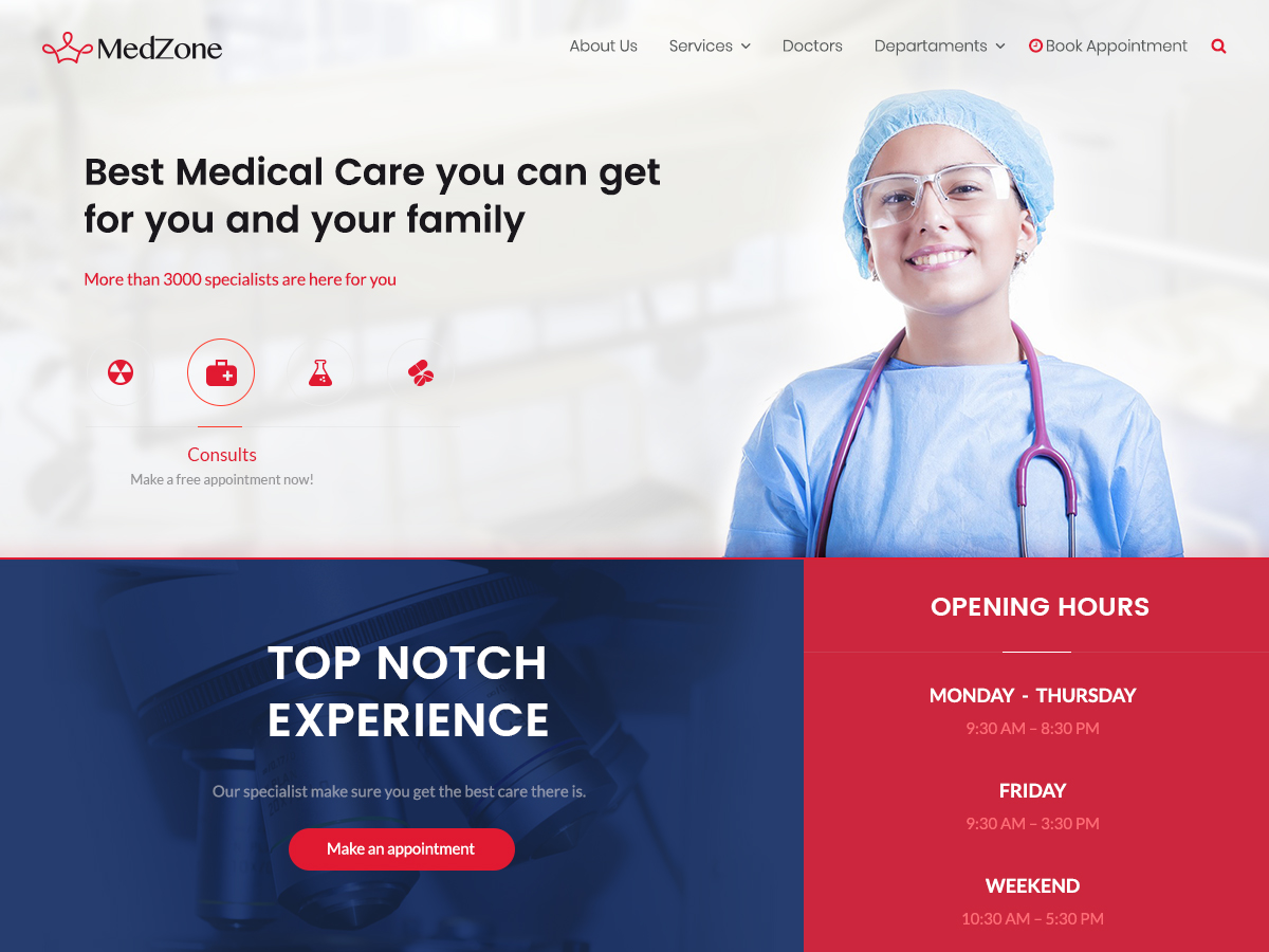 25+ Free Medical WordPress Themes 2019 1