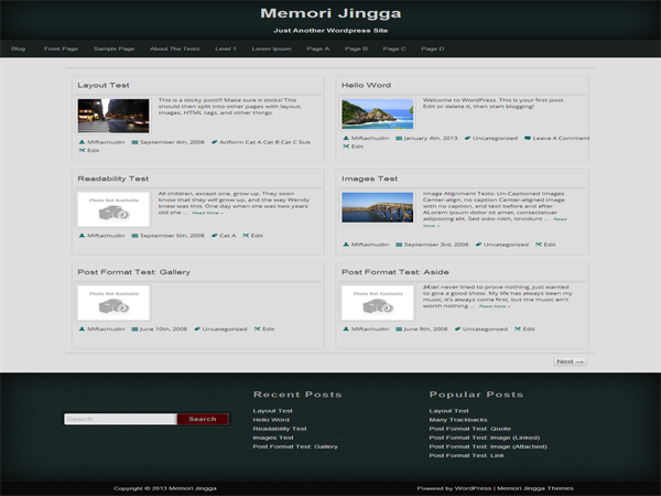 Template wordpress memori jingga