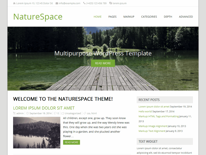 17+ Best Free Nature Inspired WordPress Themes [sigma_current_year] 7