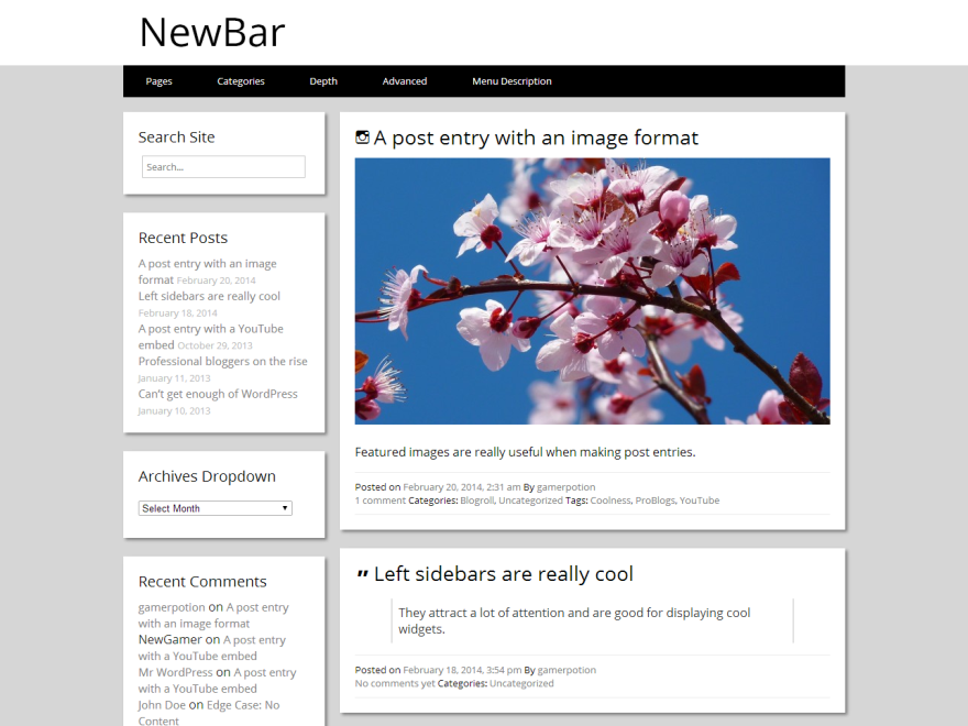 NewBar screenshot