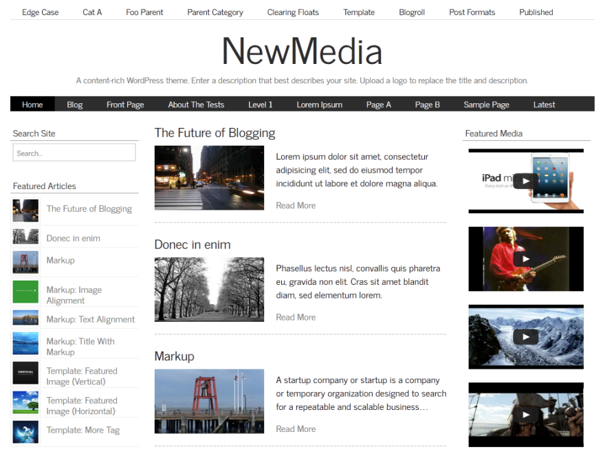 NewMedia screenshot