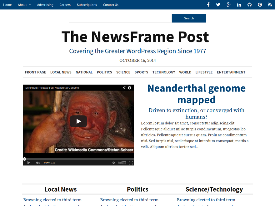 NewsFrame screenshot