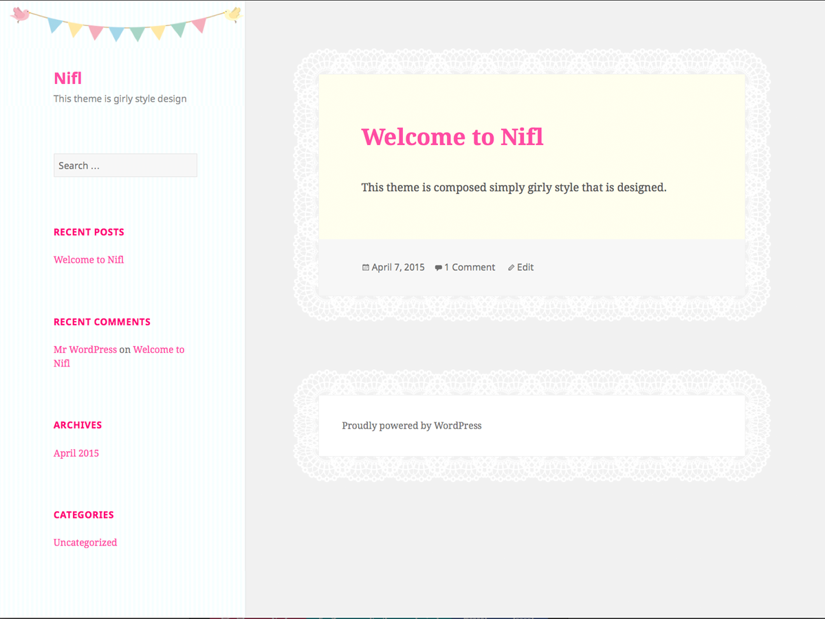 screenshot of theme nifl