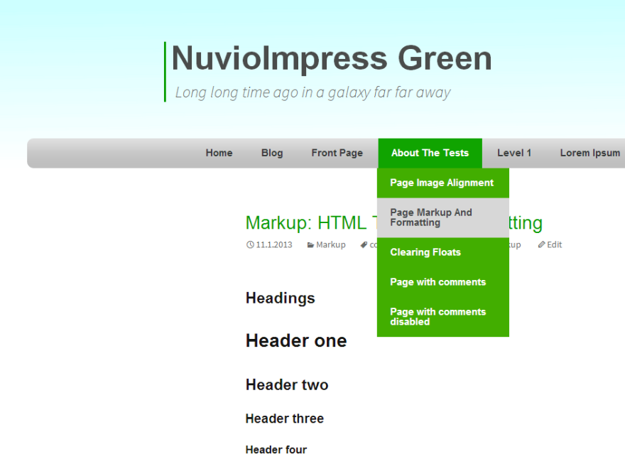 NuvioImpress Green screenshot