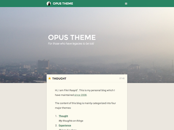 Opus screenshot