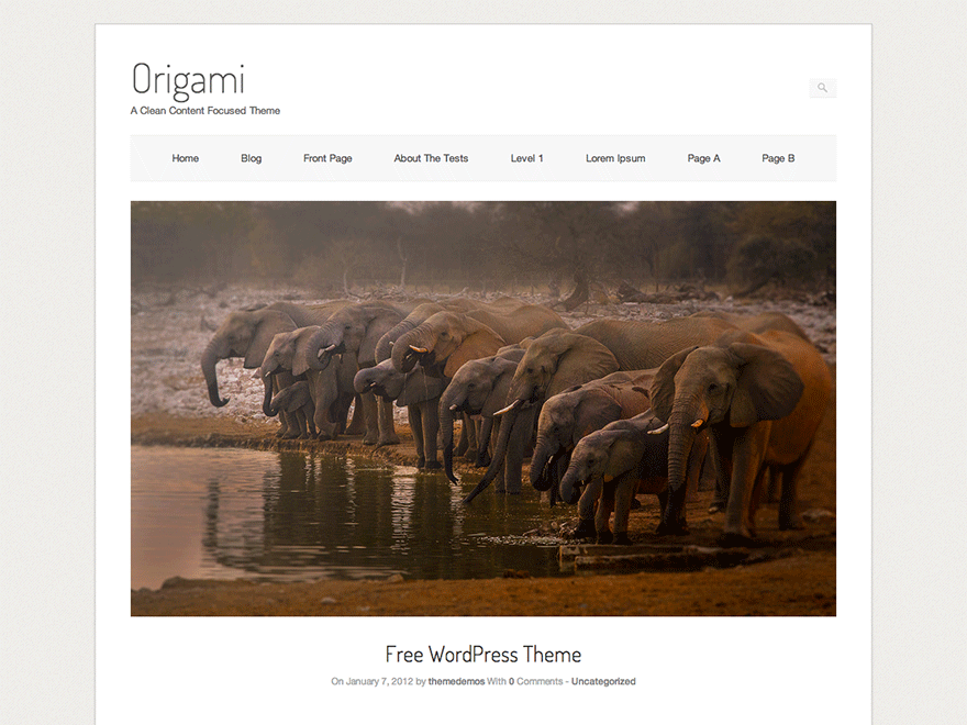 Template WordPress Origami