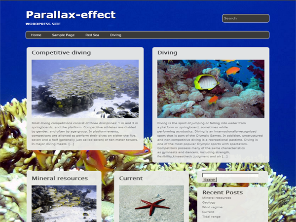 Parallax-effect screenshot