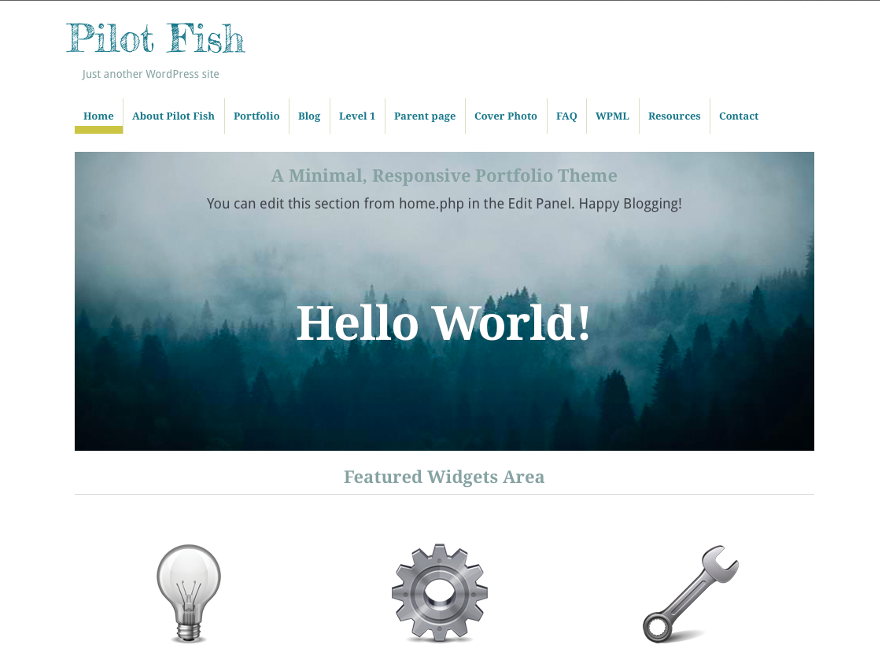 Template WordPress Pilot Fish