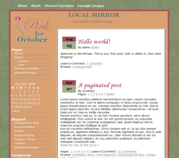 Pink 4 October screenshot