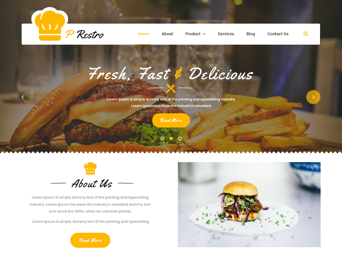 20+ Free Restaurant WordPress Themes 2019 18