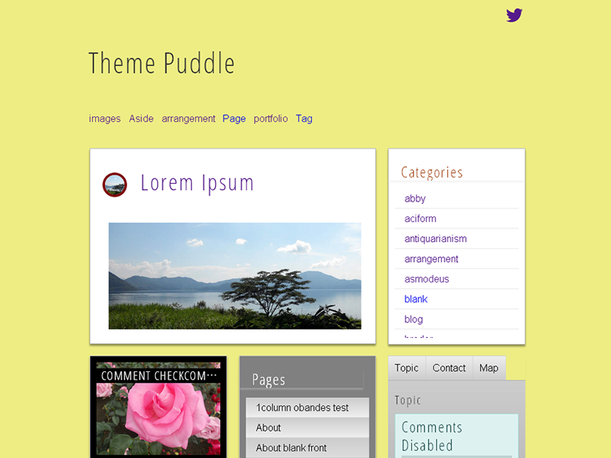 screenshot of theme puddle