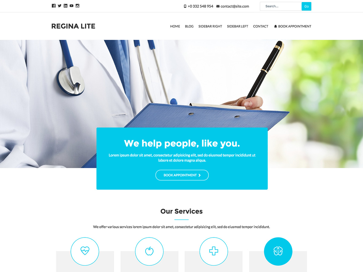 25+ Free Medical WordPress Themes 2019 16