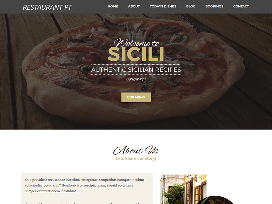 20+ Free Restaurant WordPress Themes 2019 6