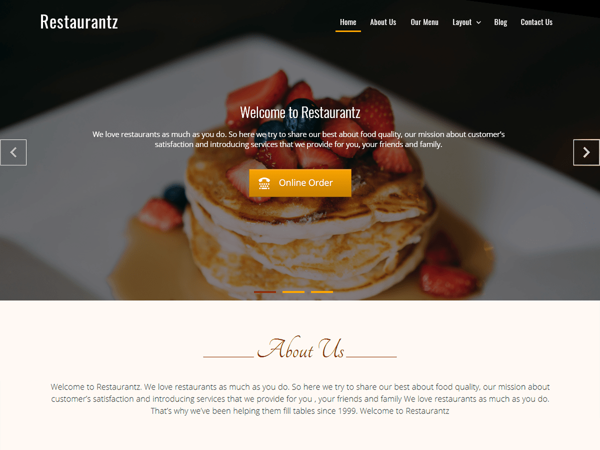 20+ Free Restaurant WordPress Themes 2019 8
