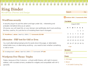 ringbinder screenshot