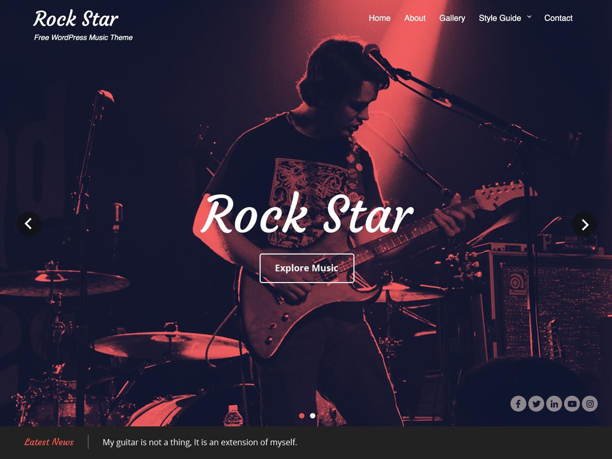 10 Best Free Music Band WordPress Themes 2019 6
