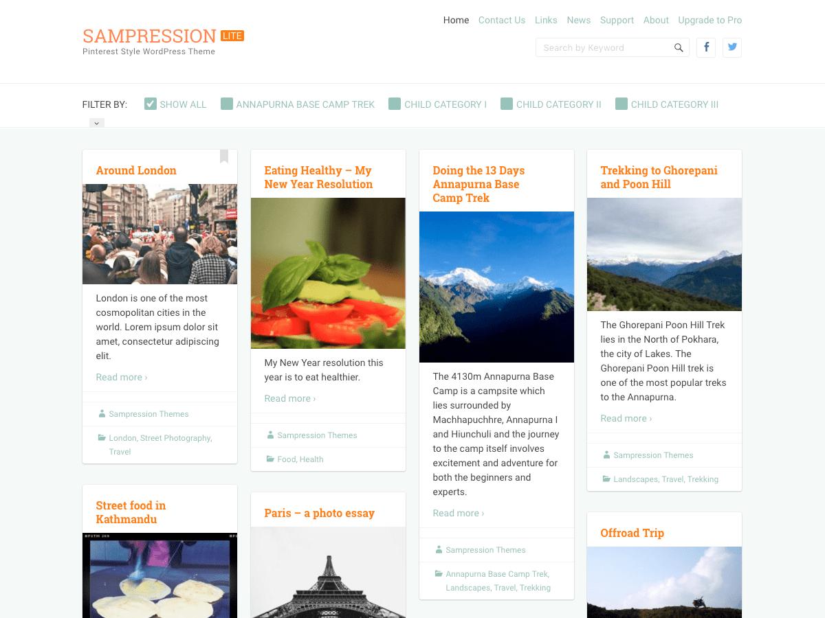 Template WordPress Sampression Lite