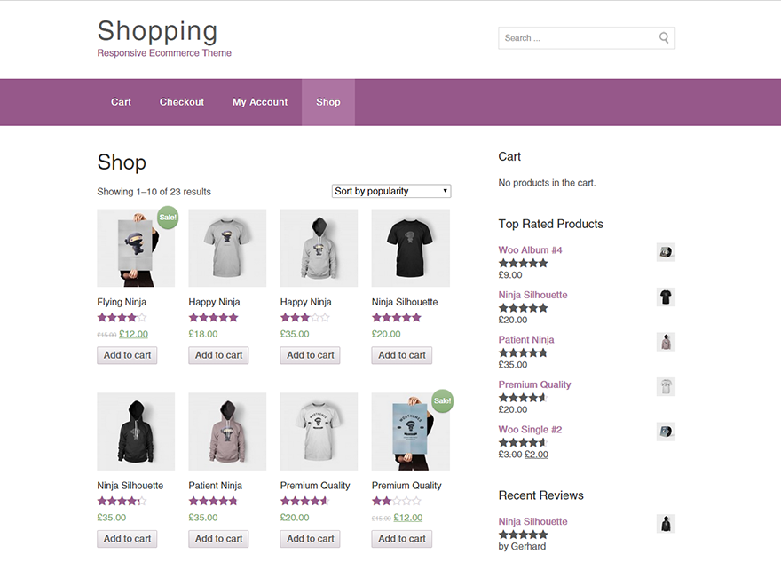 Shopping screenshot