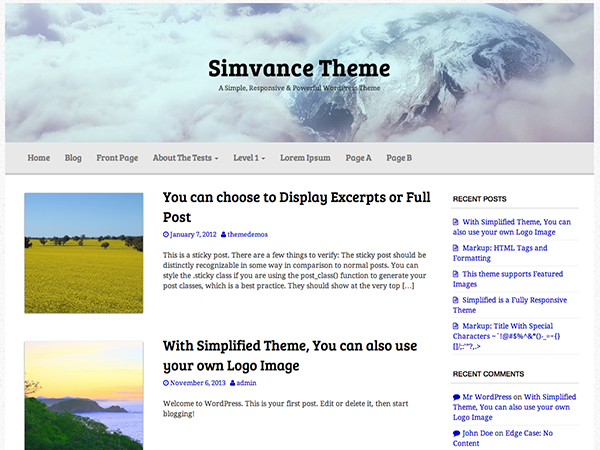 Simvance screenshot