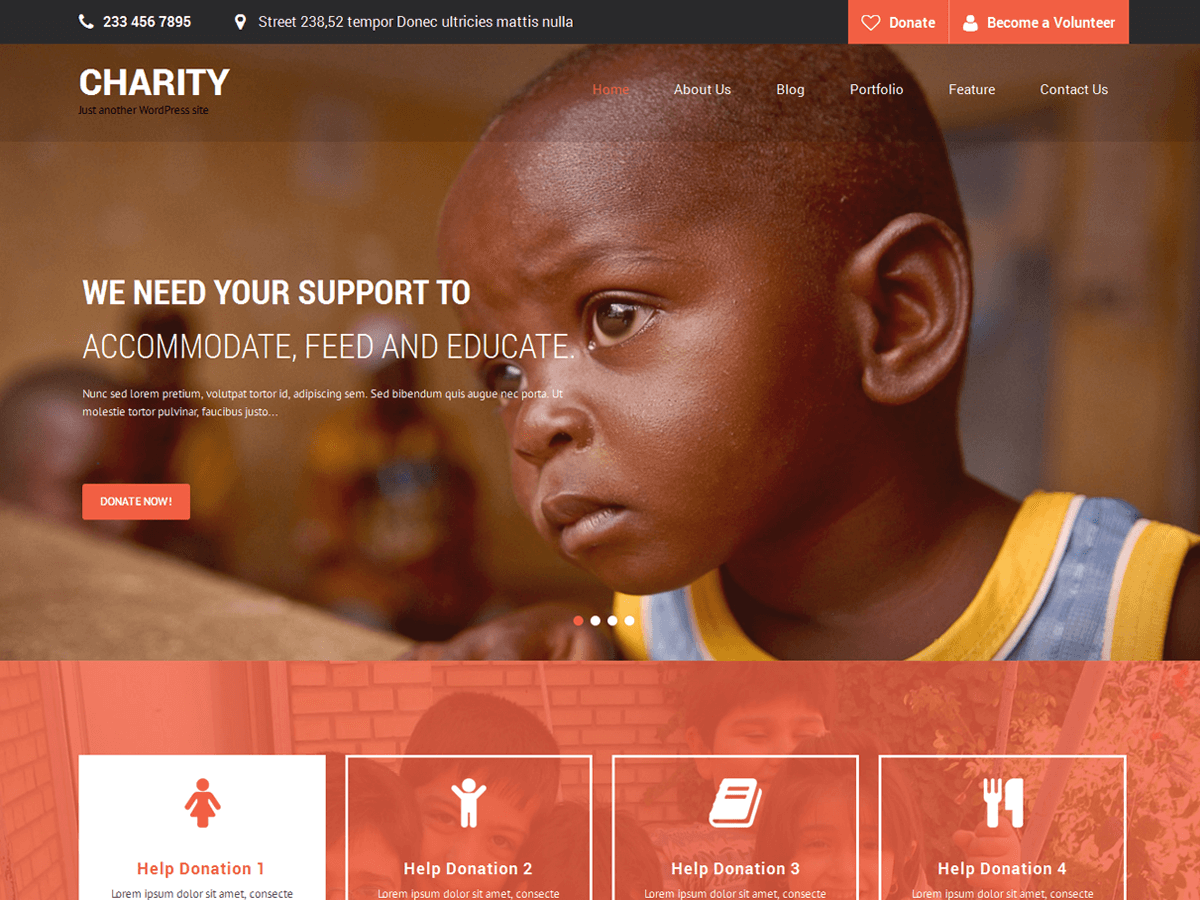Top 15 Best Free Charity WordPress Themes 2019 5