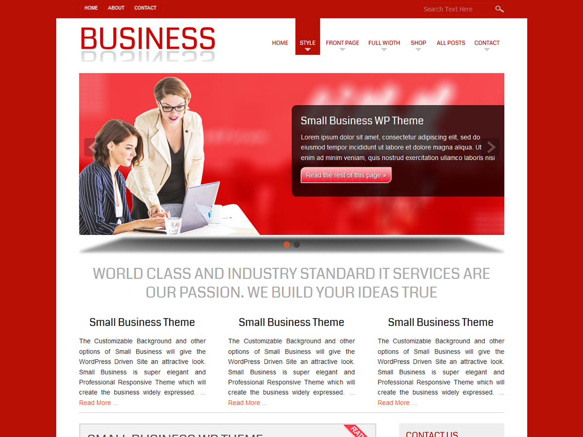 Free wordpress business themes idealstalist free wordpress business themes flashek Gallery