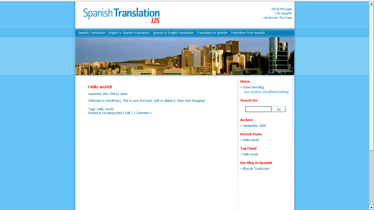 Spanish Translation US screenshot