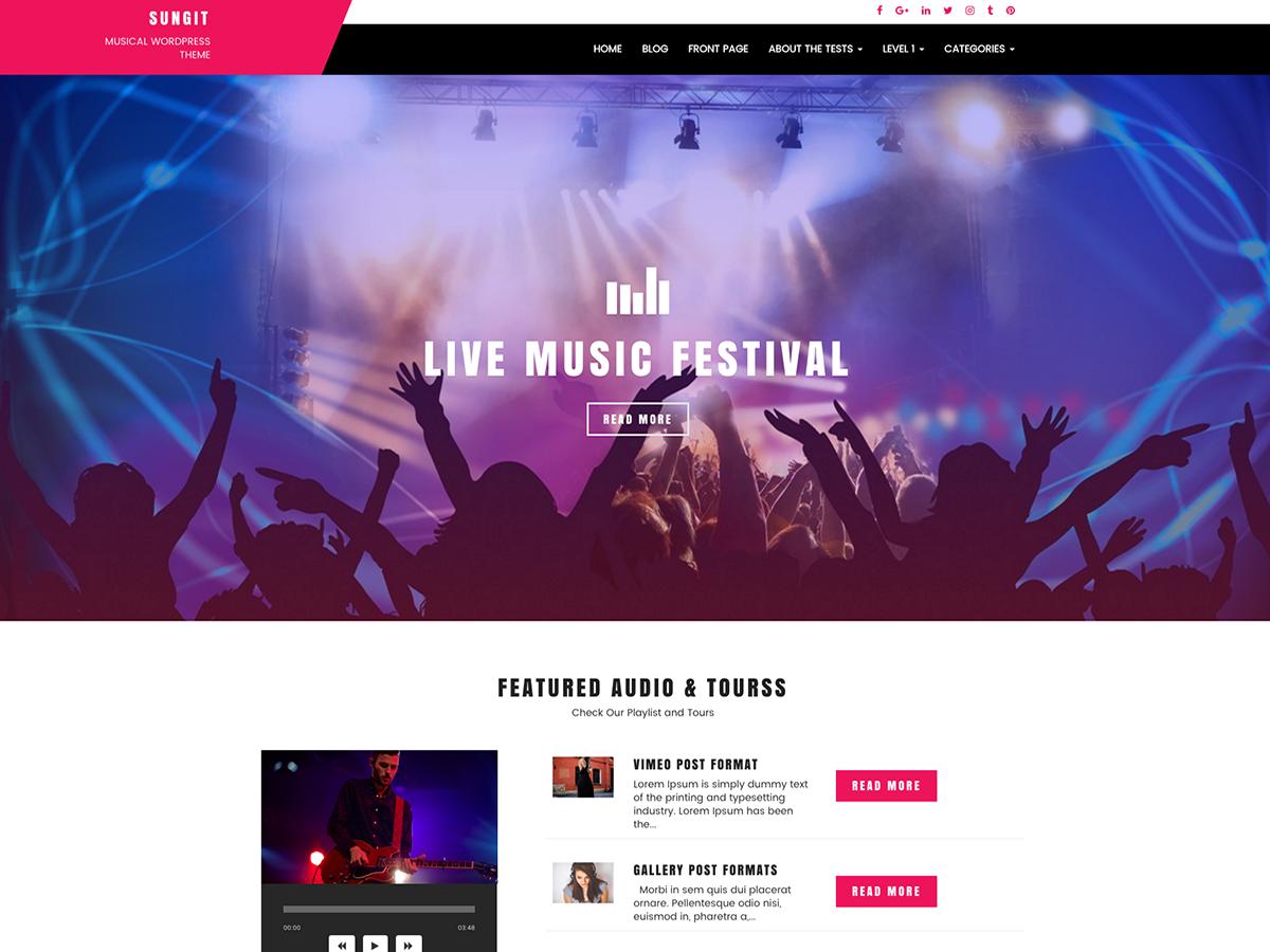 10 Best Free Music Band WordPress Themes 2019 10