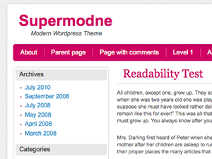 Supermodne screenshot