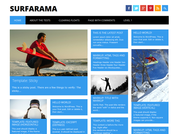 Surfarama screenshot