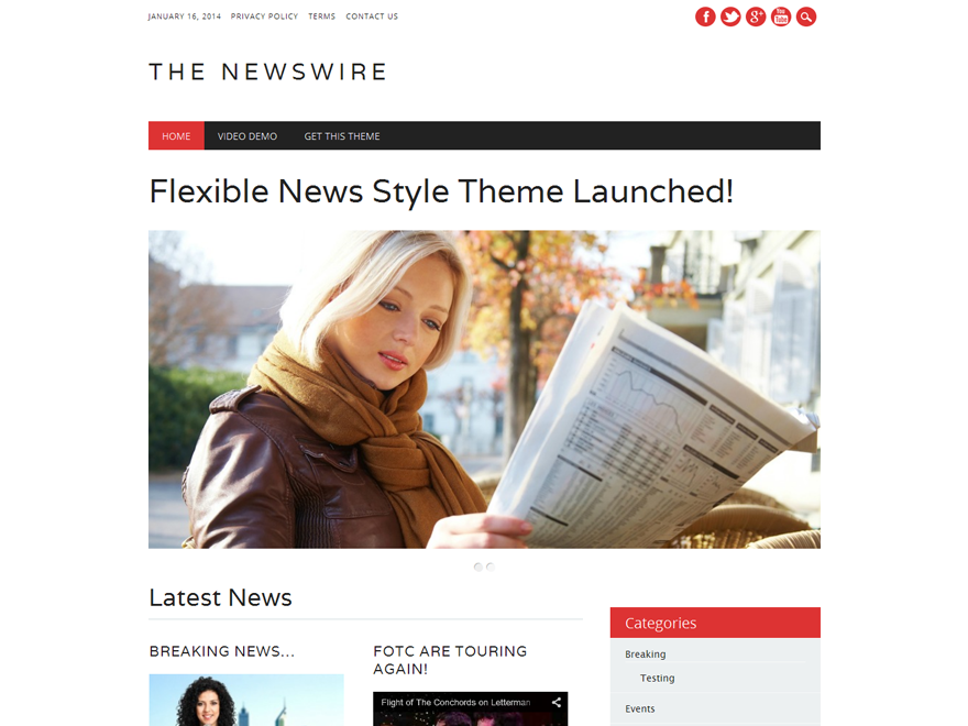 The Newswire screenshot