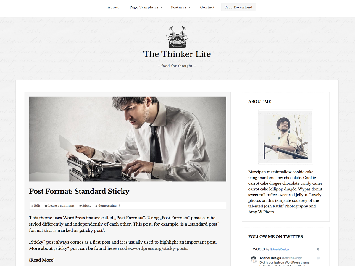 The Thinker Lite screenshot