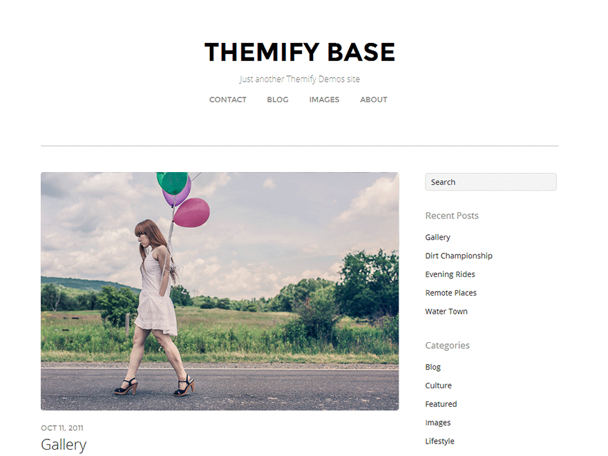Themify Base screenshot