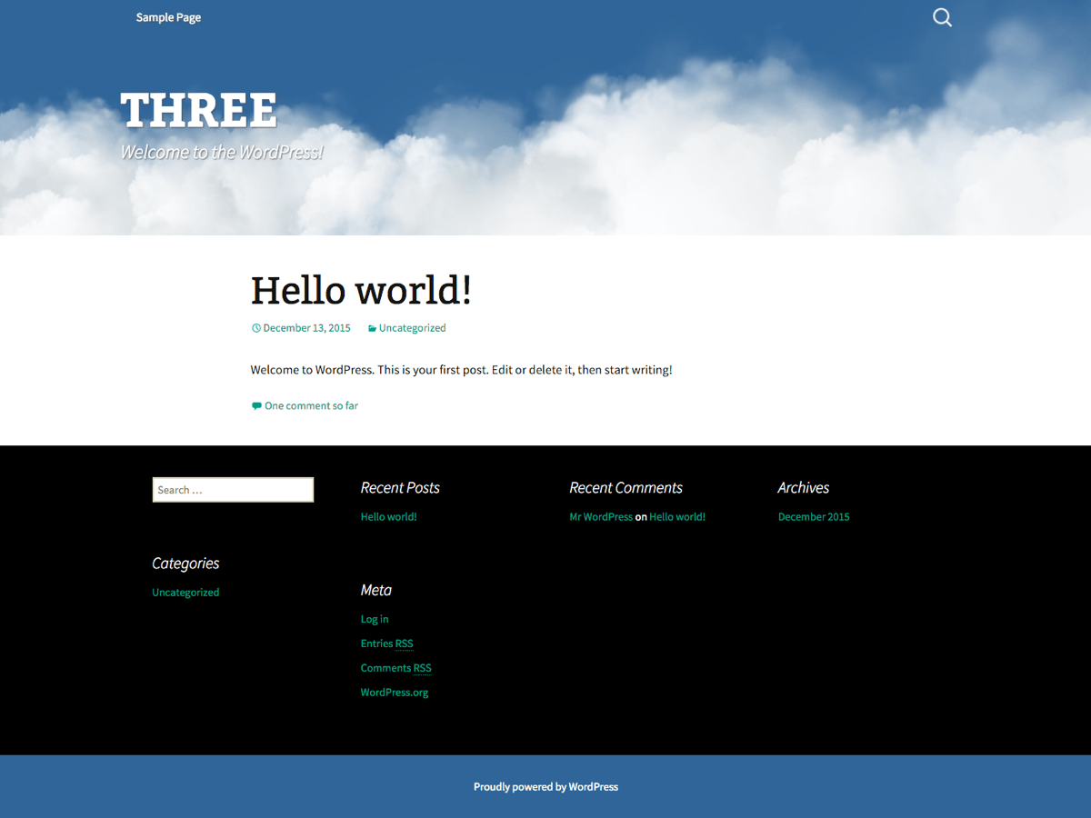 screenshot of theme Three