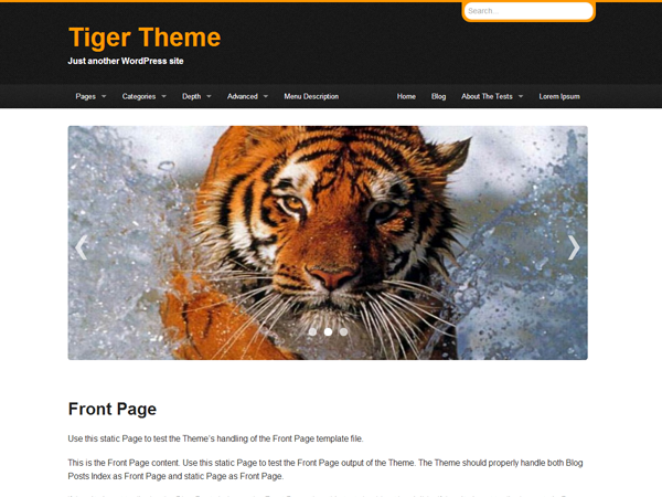 Tiger screenshot