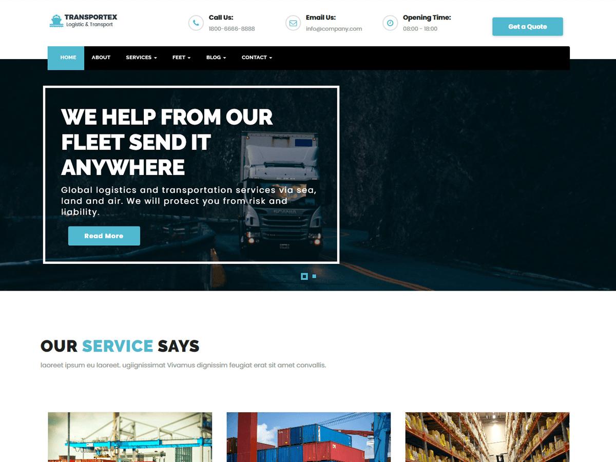 Best free logistics wordpress themes 2018 envothemes transportex maxwellsz