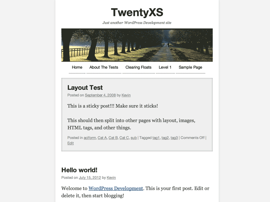 TwentyXS screenshot