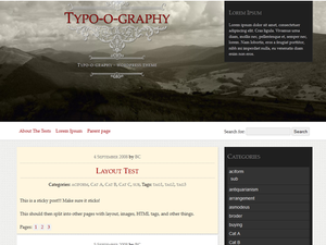 Typo-o-graphy screenshot