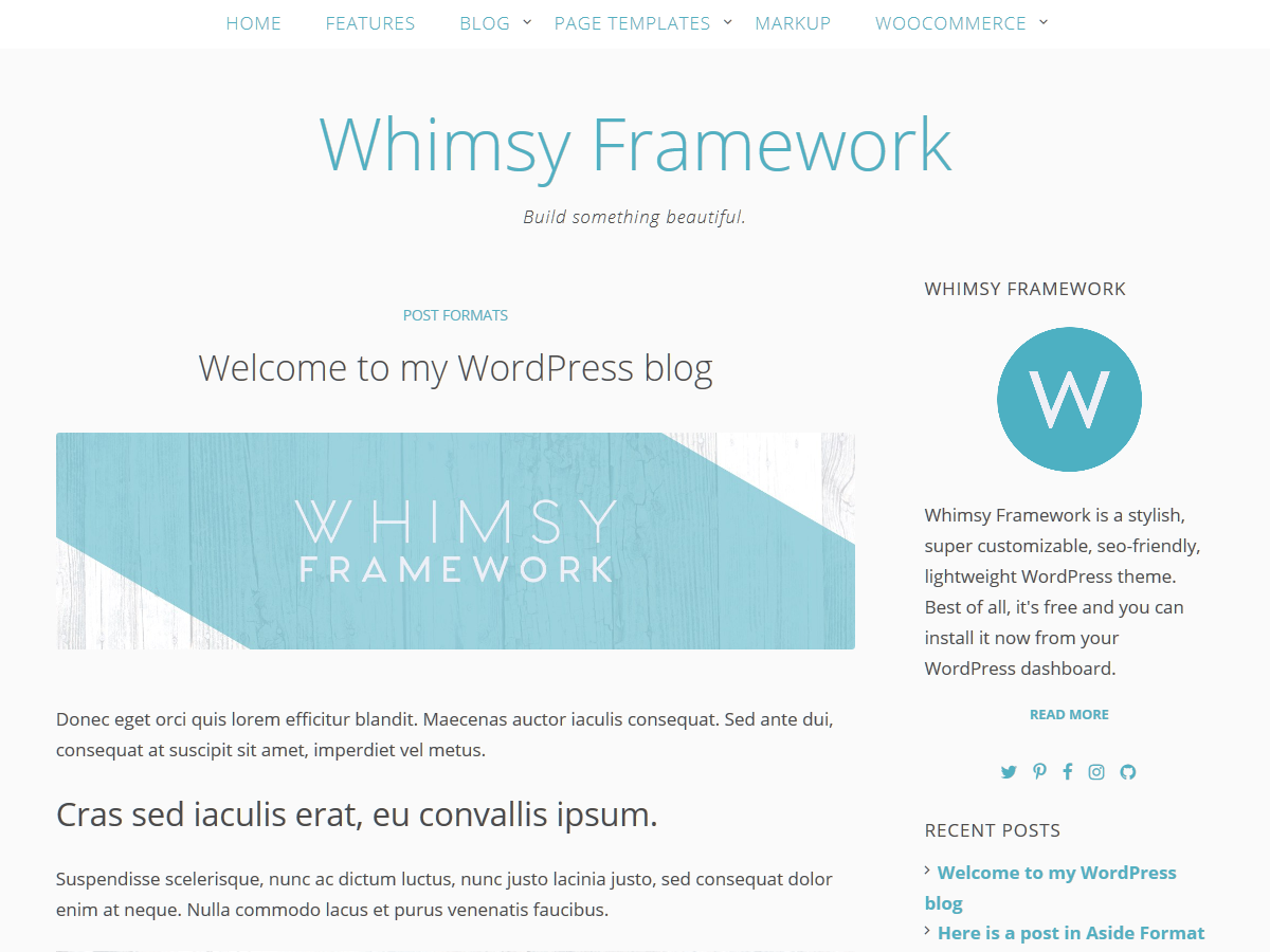 Whimsy Framework screenshot
