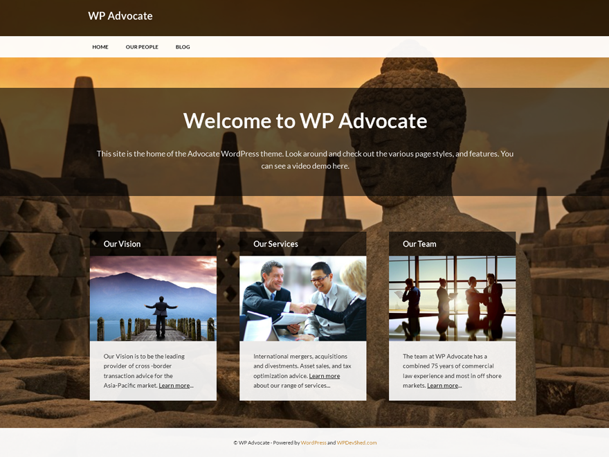 WP Advocate screenshot